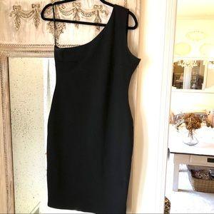 Lulu's Black One Shoulder Dress size large